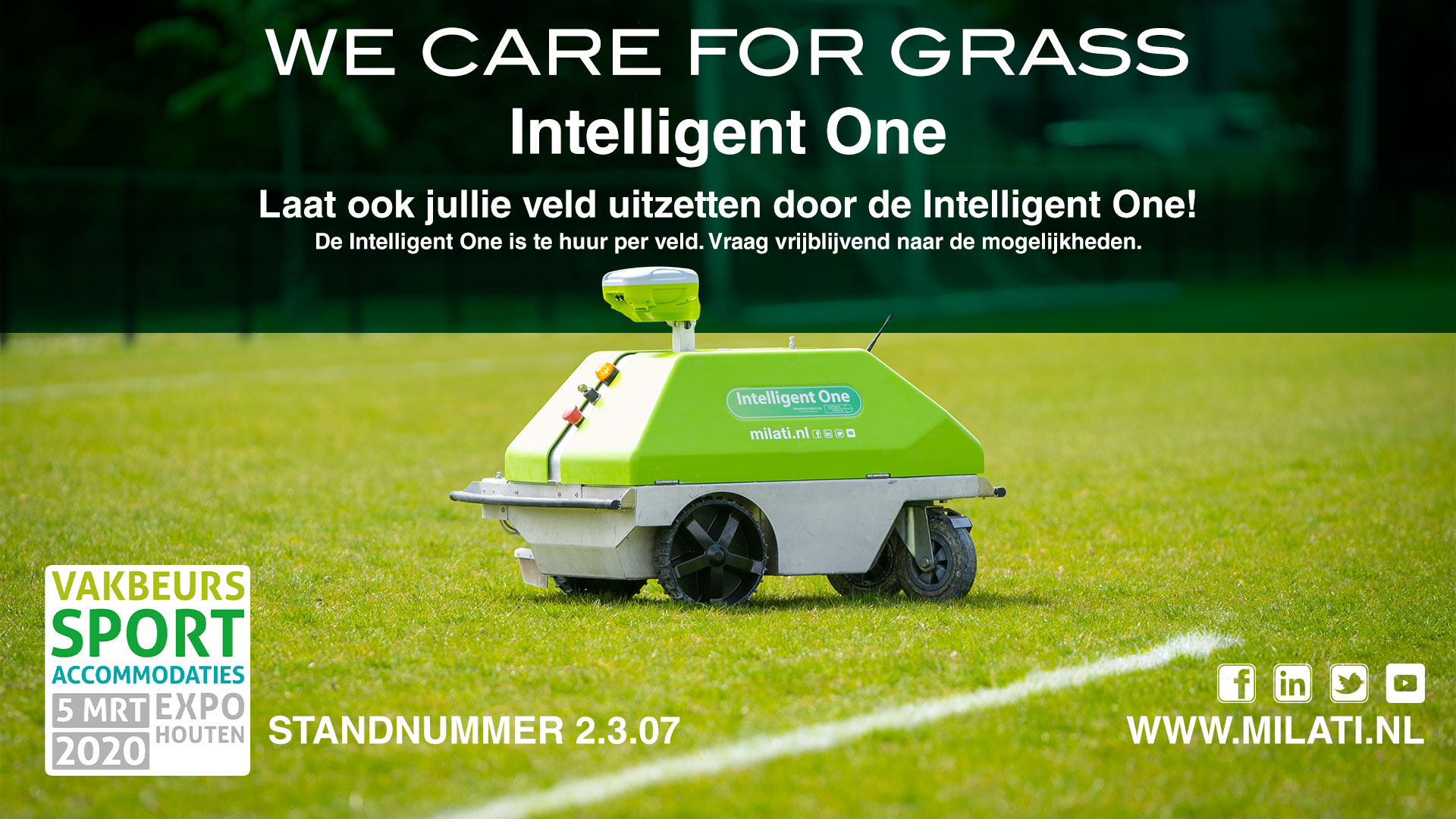 Milati Grass Machines Vakbeurs Sportaccommodaties