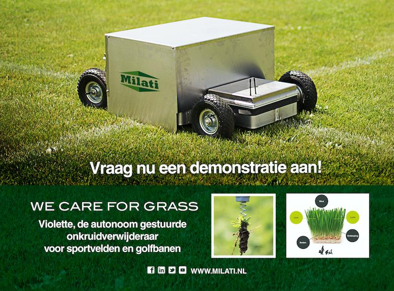 Milati Grass Machines_Violette onkruidbestrijder