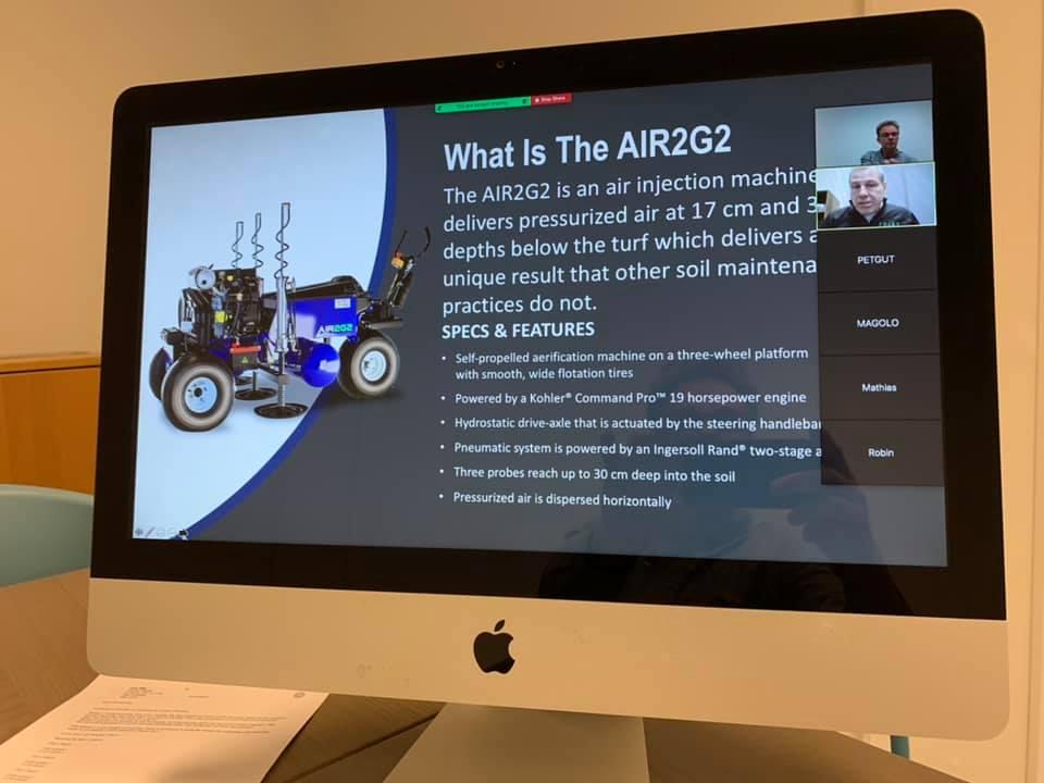 Presentatie voor seminar op beeldscherm